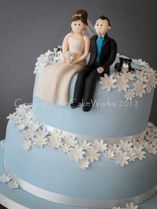 Darlington Wedding cake ideas - bride and groom models